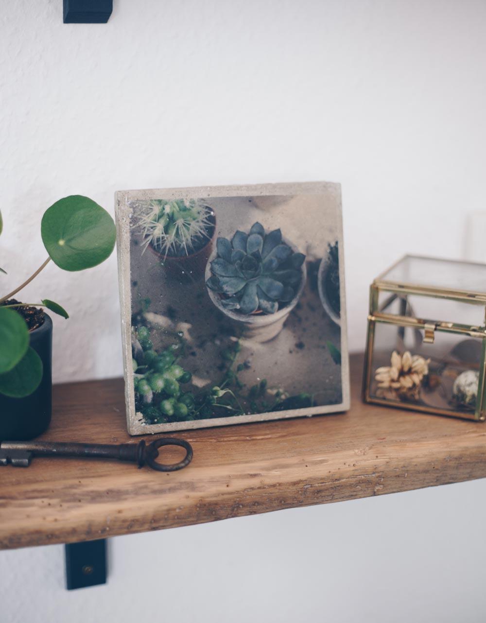 DIY Fototransfer auf Betonfliesen - Betonbilder selbermachen