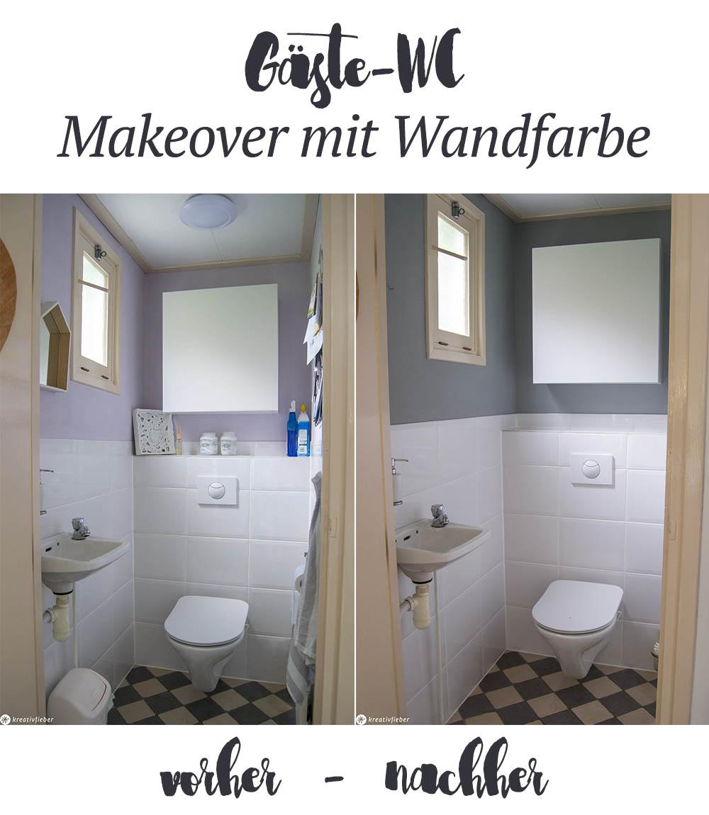Kalkfarbe Gäste-WC Makeover Leben in den Niederlanden