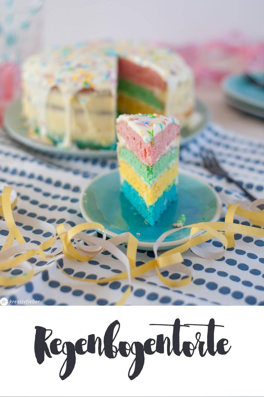 Regenbogenkuchen Geburtstagskuchen