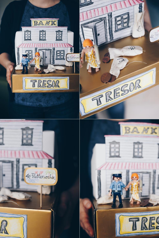 DIY Geldgeschenk zur Hochzeit individuell verpacken - Miniaturwelt aus Playmobil selbermachen