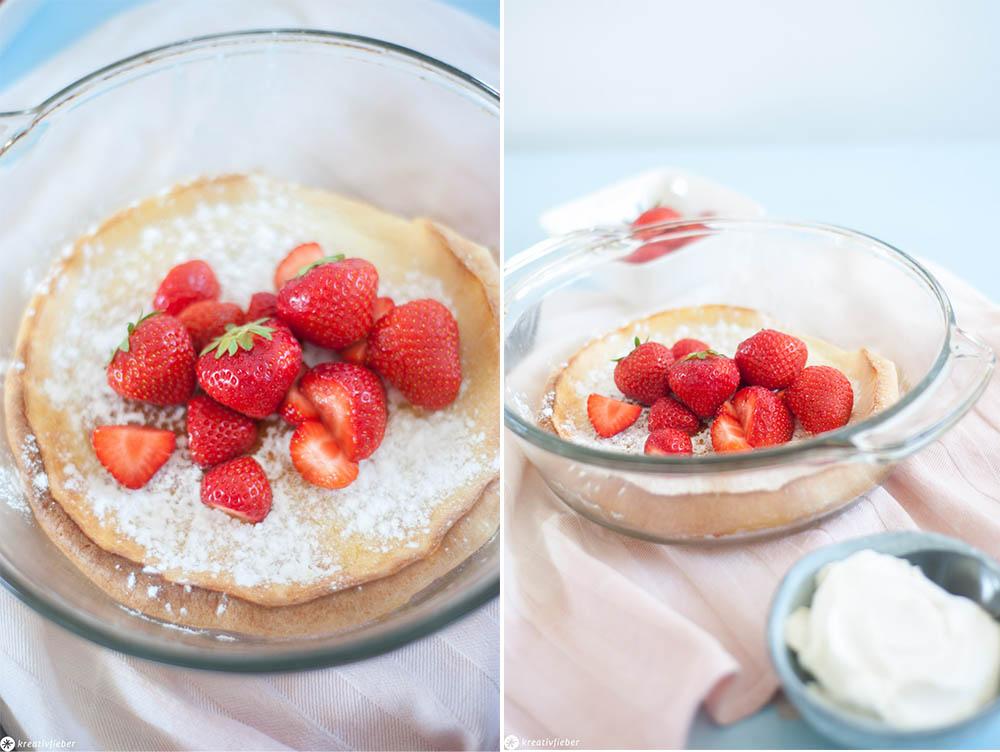 Das einfachste Rezept für Pfannkuchen im Ofen