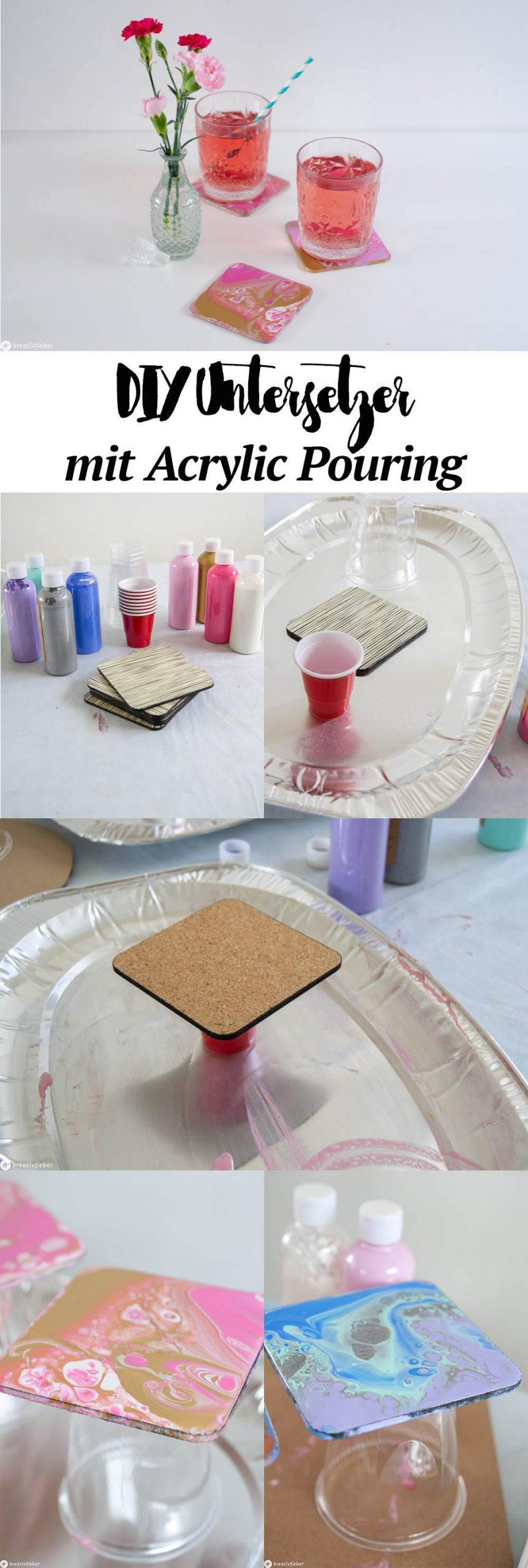 Super einfache Anleitung für Acrylic Pouring