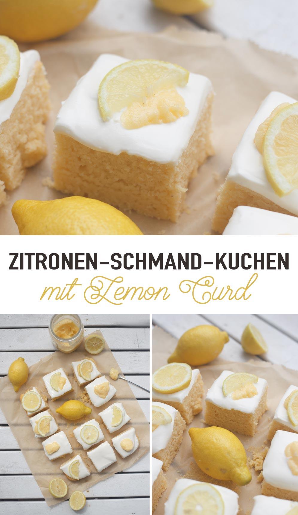 Zitronen-Schmand-Kuchen mit Lemon Curd - sommerliches Rezept mit Rührteig