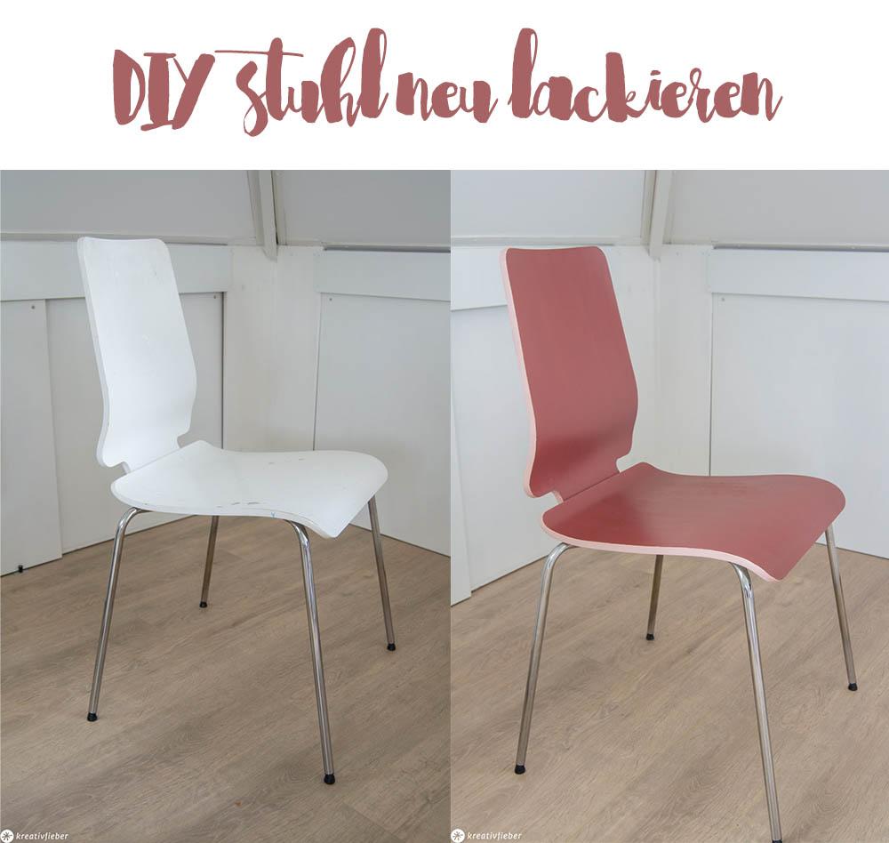 Stuhl neu lackieren