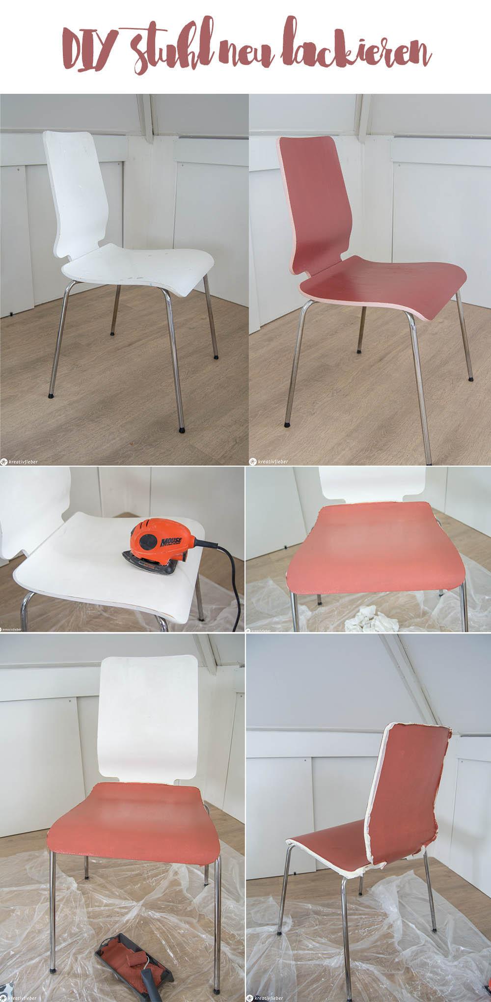 Stuhl neu lackieren renovieren Makeover
