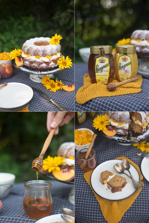 Honigkuchen mit Mascarpone Creme und Pfirsich