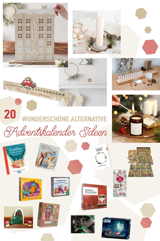 20 wunderschöne alternative Adventskalender Ideen ohne Schokolade und Kleinkram