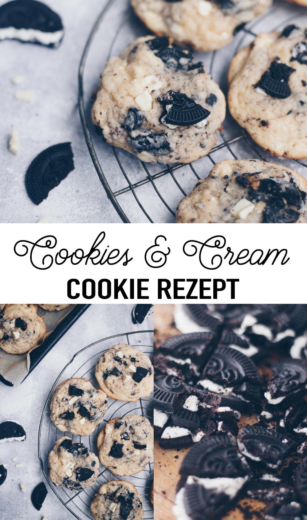 Cookies & Cream Cookies Rezept - Amerikanische Cookies mit softem Kern