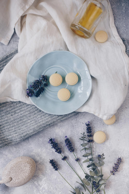 DIY Lavendel Lotion Bars selbermachen - feste Bodylotion am Stück