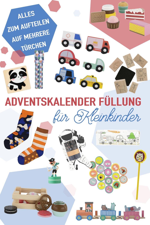 Ideen für die Adventskalender Füllung für Kleinkinder die sich auf mehrere Türchen aufteilen lassen