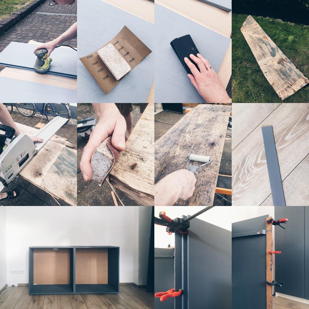 Ivar Hack Sideboard Schrittfotos