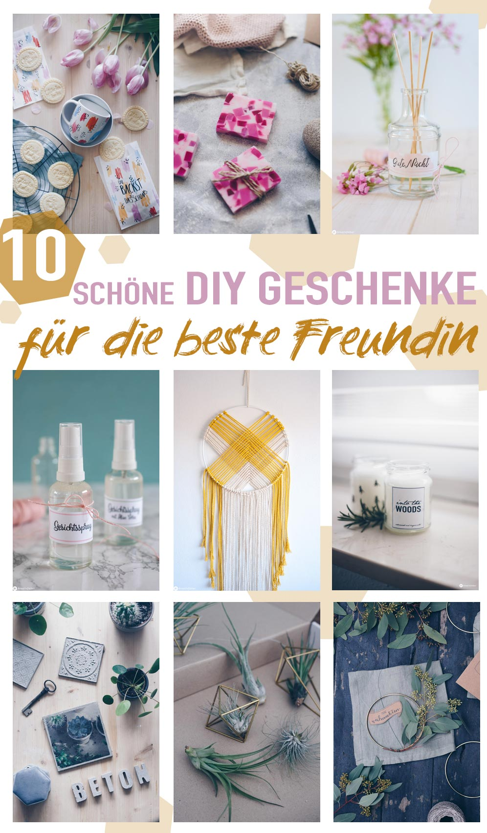 10 schöne DIY Geschenke für die beste Freundin selbermachen - DIY Weihnachtsgeschenke