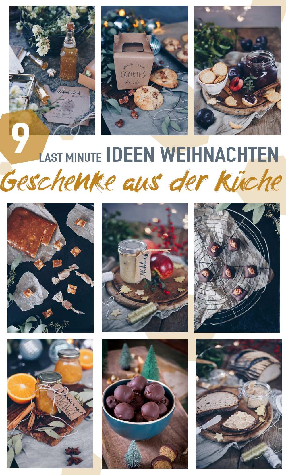9 DIY last minute Geschenkideen aus der Küche selbermachen - Weihnachtsgeschenkideen oder Mitbringsel aus der Küche oder zum Verschicken