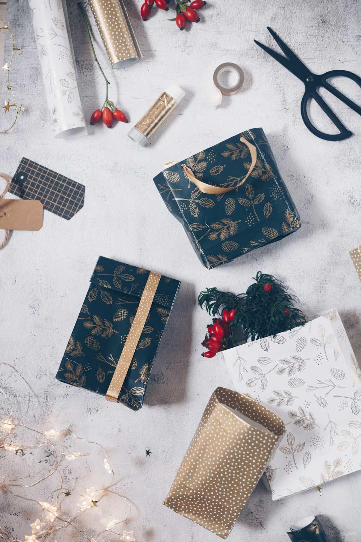DIY Geschenktüten falten Videoanleitung für Weihnachten und kleine Geschenke