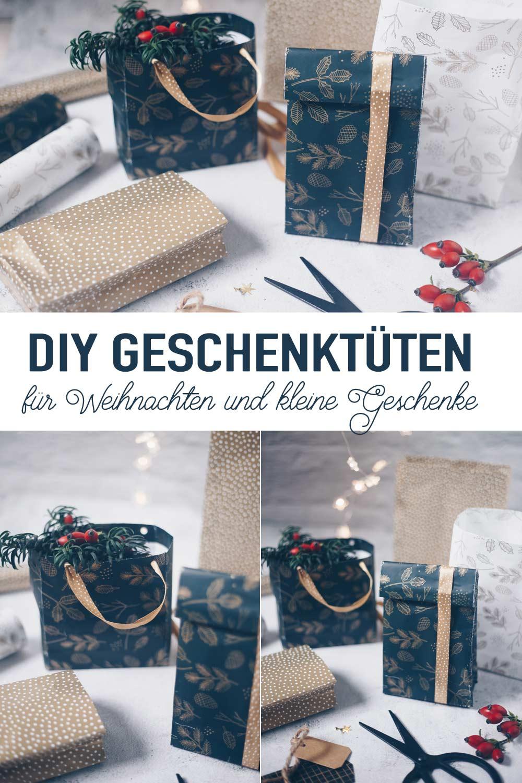 DIY Geschenktüten falten für Weihnachten und kleine Geschenke