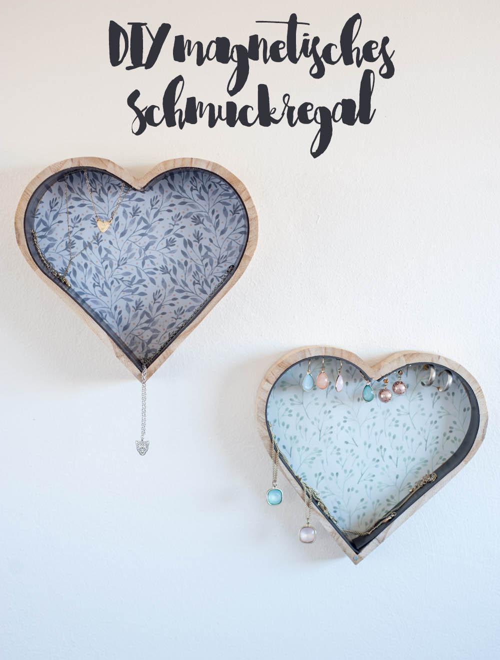 magnetisches Schmuckregal Herzform für die Wand