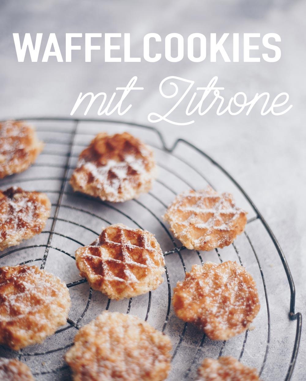 Simple Waffelcookies mit Zitrone backen - einfache Rezeptidee