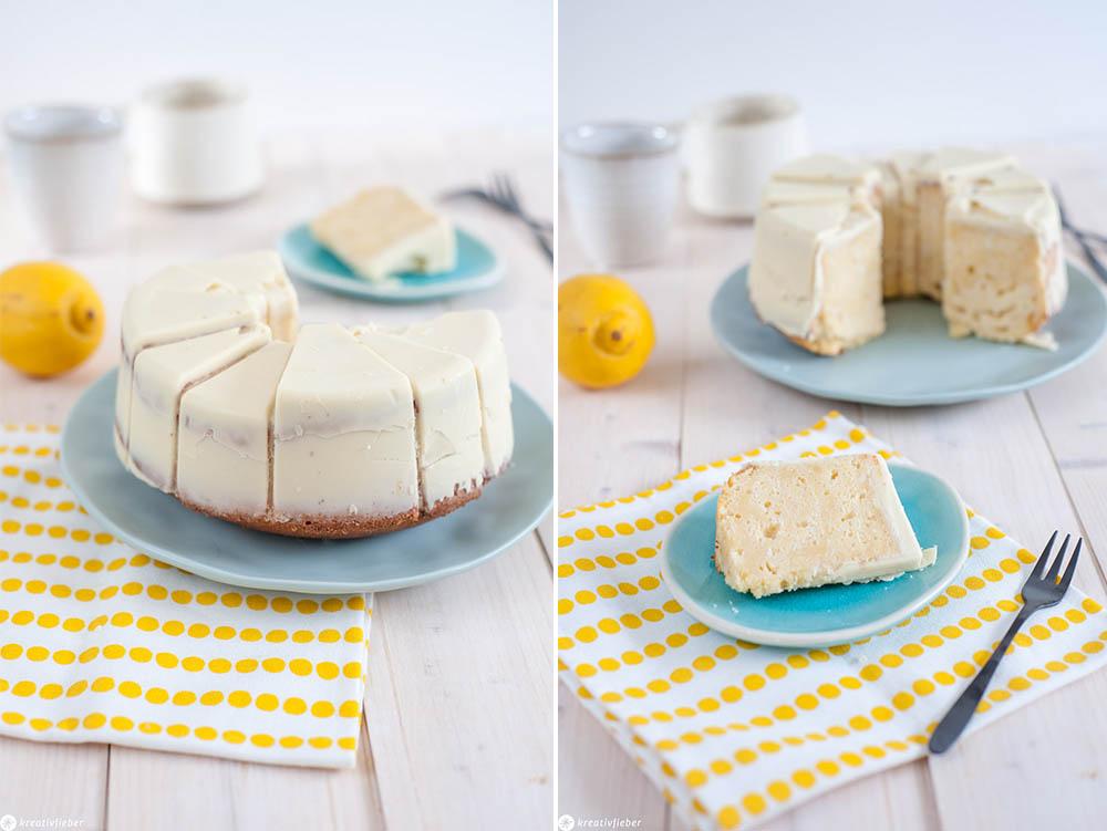 Zitronenkuchen mit perfekten Schokoladenüberzug