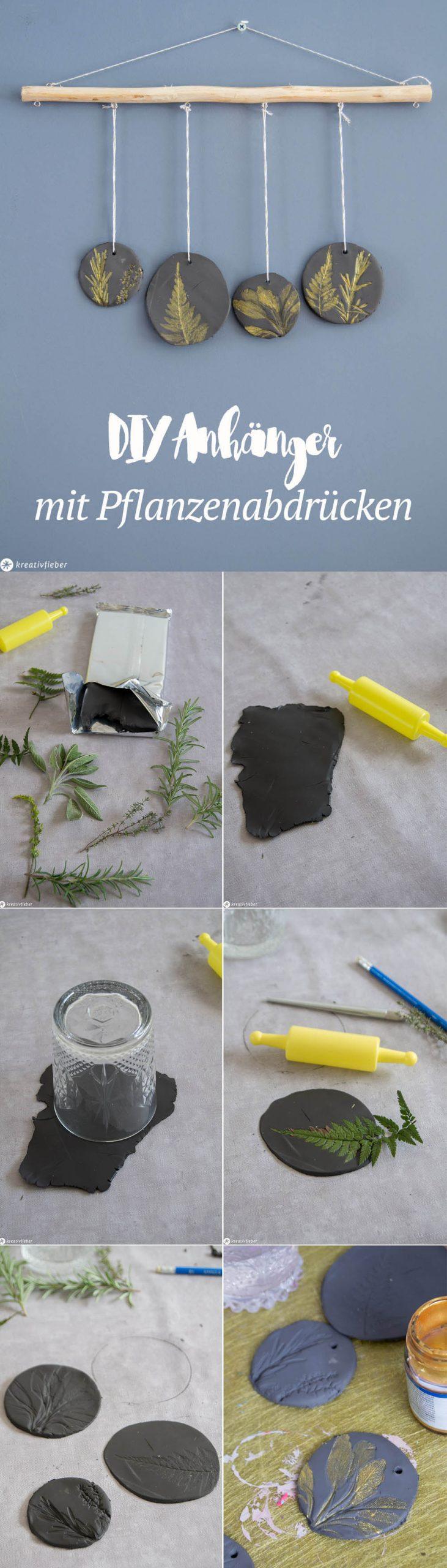 Anleitung Anhänger Pflanzenabdrücke