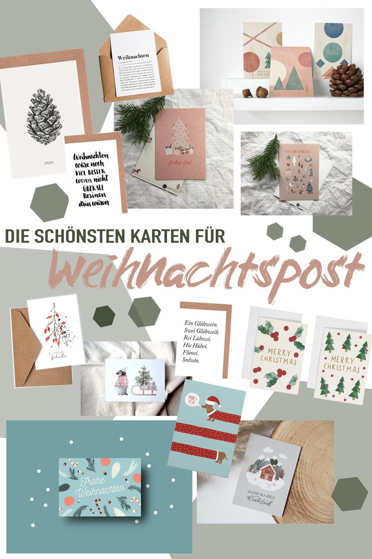 Die schönsten Karten für Weihnachtspost - Grüße zu Weihnachten verschicken mit individuellen Karten