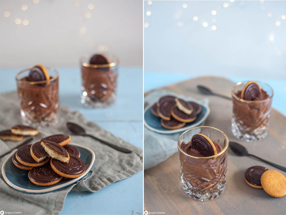 Weihnachtsdessert Mousse au chocolat Rezept