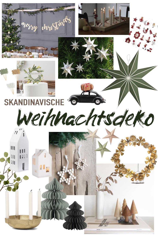 Schlichte skandinavische Weihnachtsdeko Inspiration