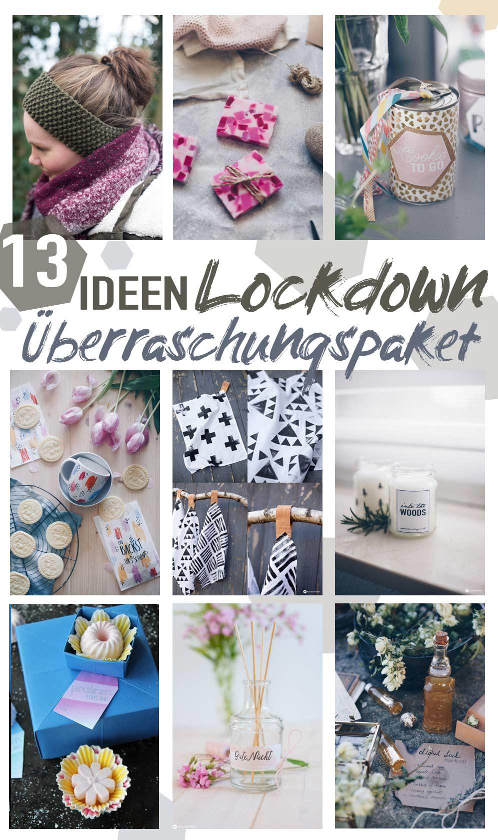 13 schöne DIY Ideen für ein Lockdown Überraschungspaket
