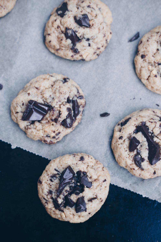 Peanut Butter Cookies mit Chocolate Chips backen Rezeptidee