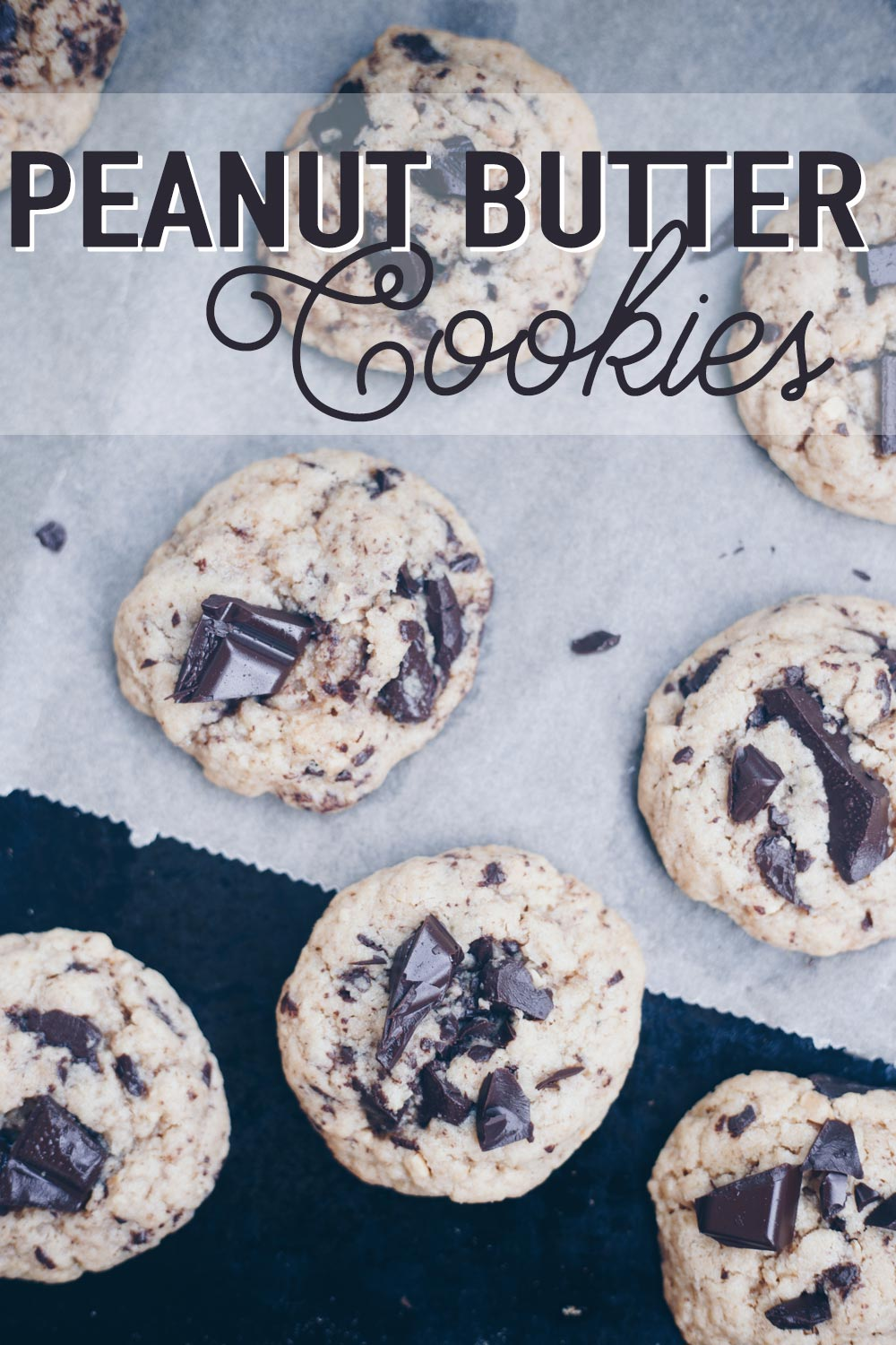 Peanut Butter Cookies mit Chocolate Chips backen