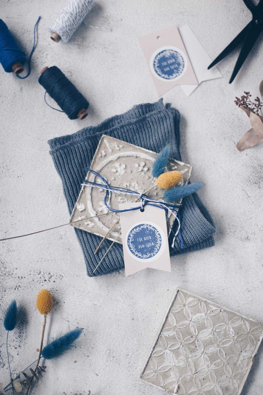 DIY Deko Betonfliesen selbermachen - Geldgeschenk Verpackung zur Einweihungsparty oder Wohnungseinweihung