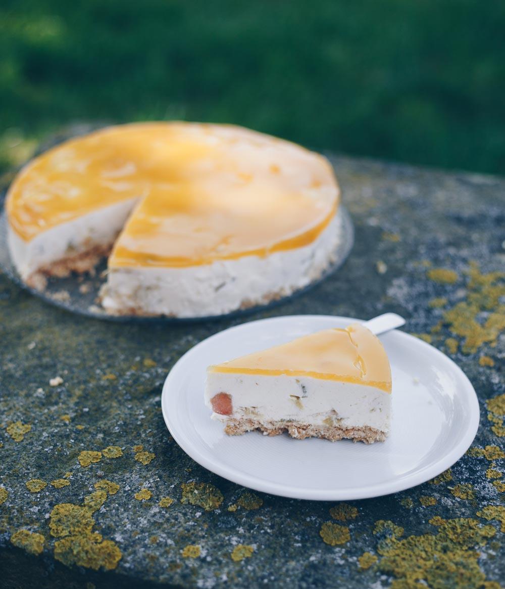 Rhababer Maracuja Torte mit Knusperboden