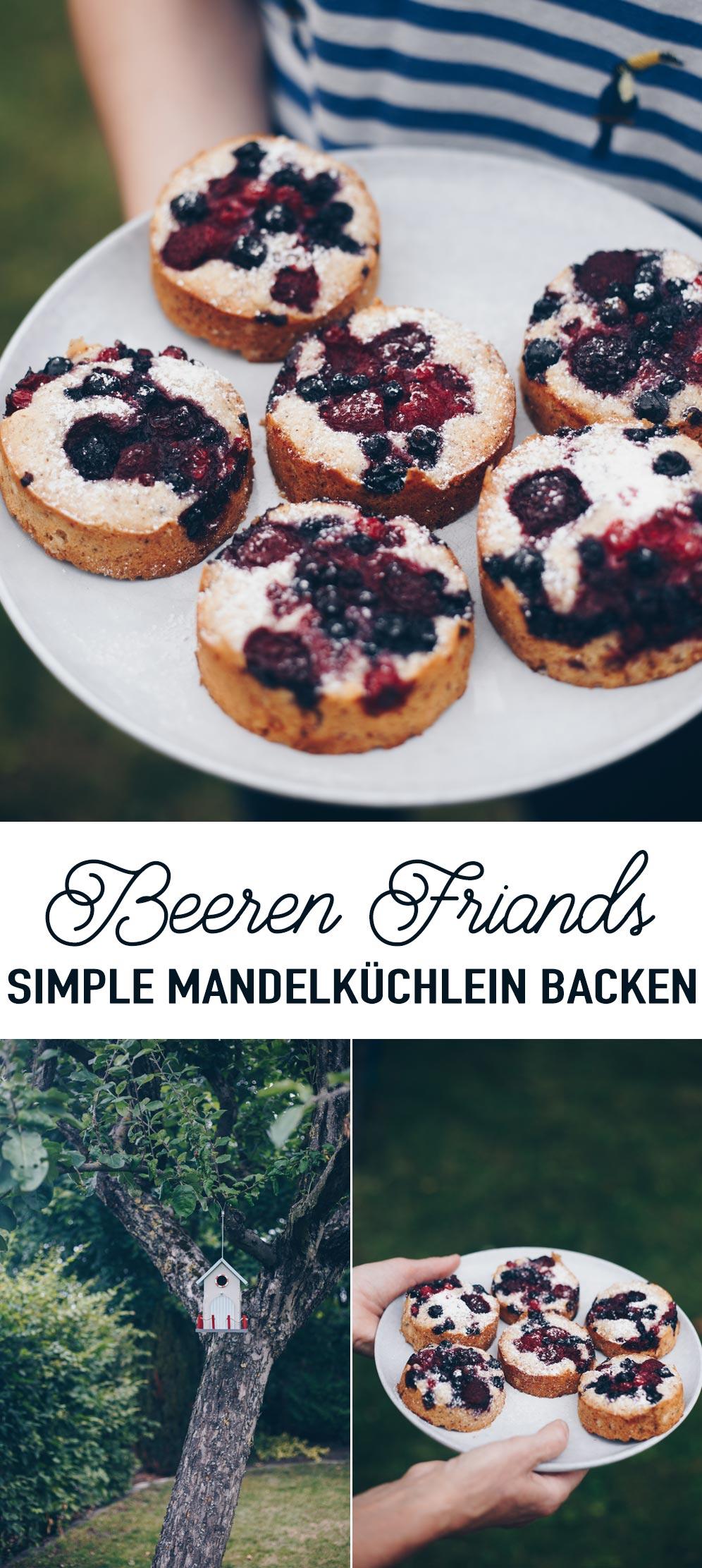 Beeren Friands - Rezept für simple Mandelküchlein