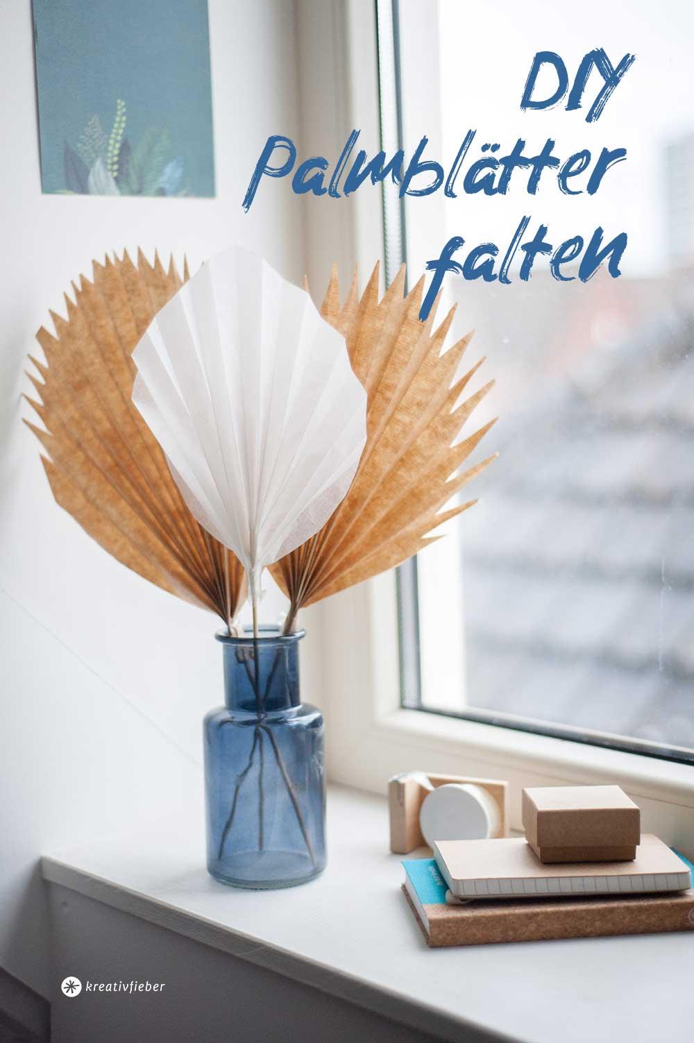 Faltanleitung Palmblätter aus Papier