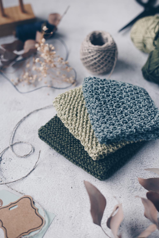 DIY Spültücher stricken - drei einfache Muster für Anfänger