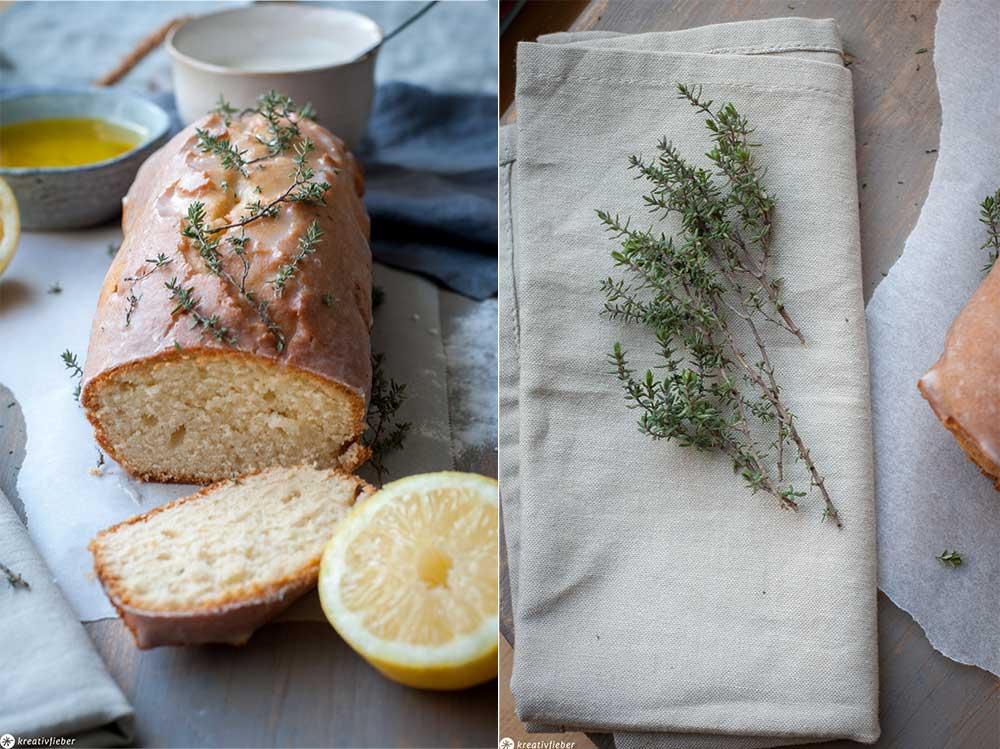 Olivenölkuchen mit Thymian
