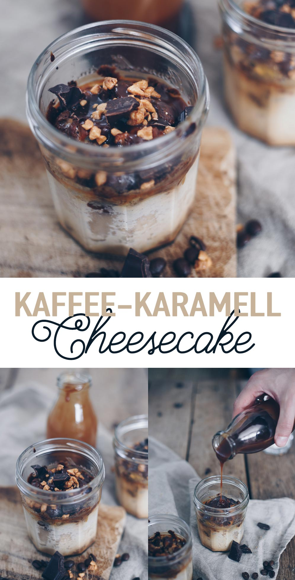 Kaffee-Karamell-Cheesecake im Glas Rezeptidee für ein Picknick