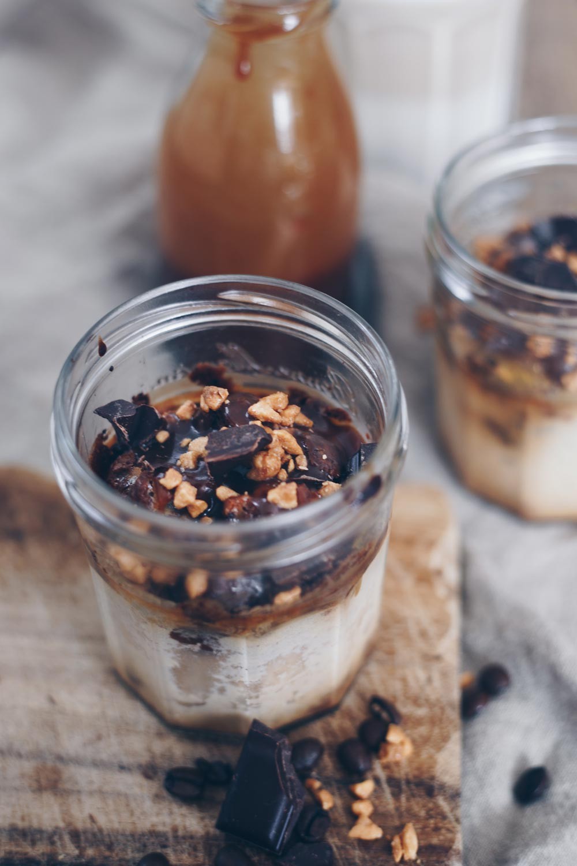 Kaffee-Karamell-Cheesecake im Glas backen - Cheesecake zum Mitnehmen