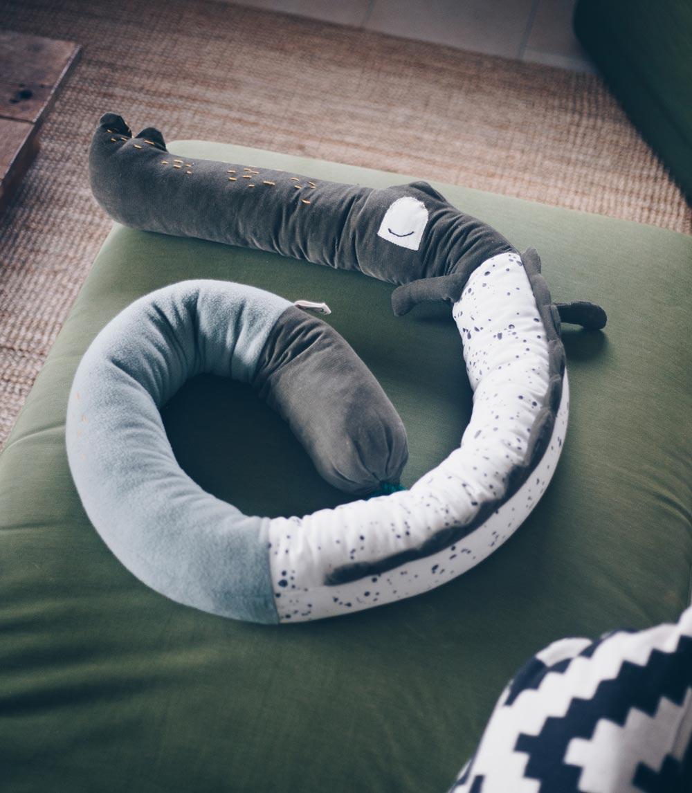 Krokodil Kordula Bettschlange für Kinder nähen