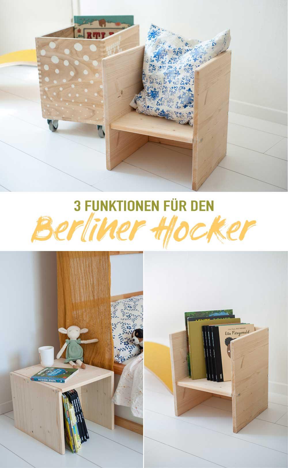 3 Funktionen Berliner Hocker