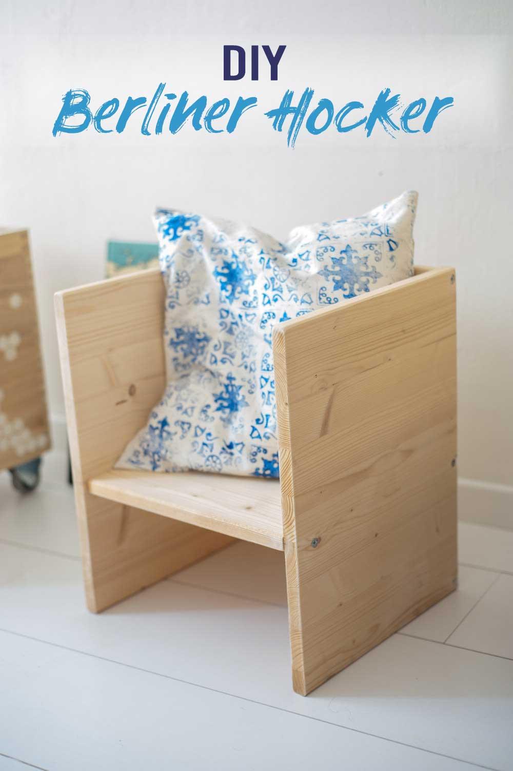 DIY Berliner Hocker aus Holz bauen für Kinder