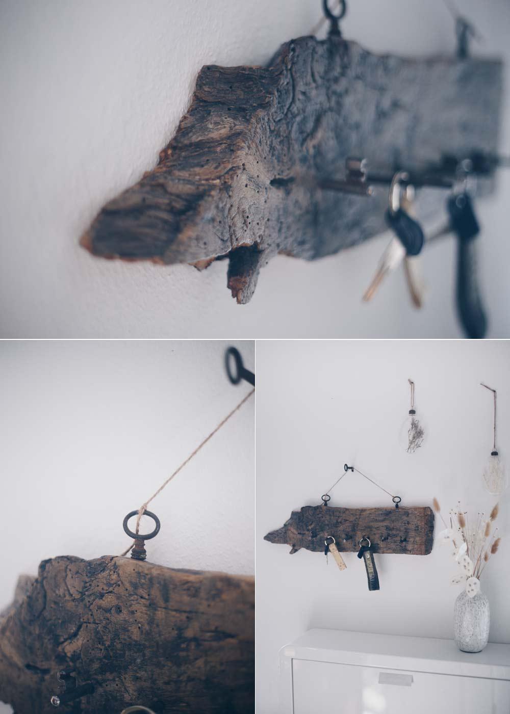 DIY Schlüsselbrett aus vintage Schlüsseln und altem Holz selbermachen Anleitung mit Schrittfotos