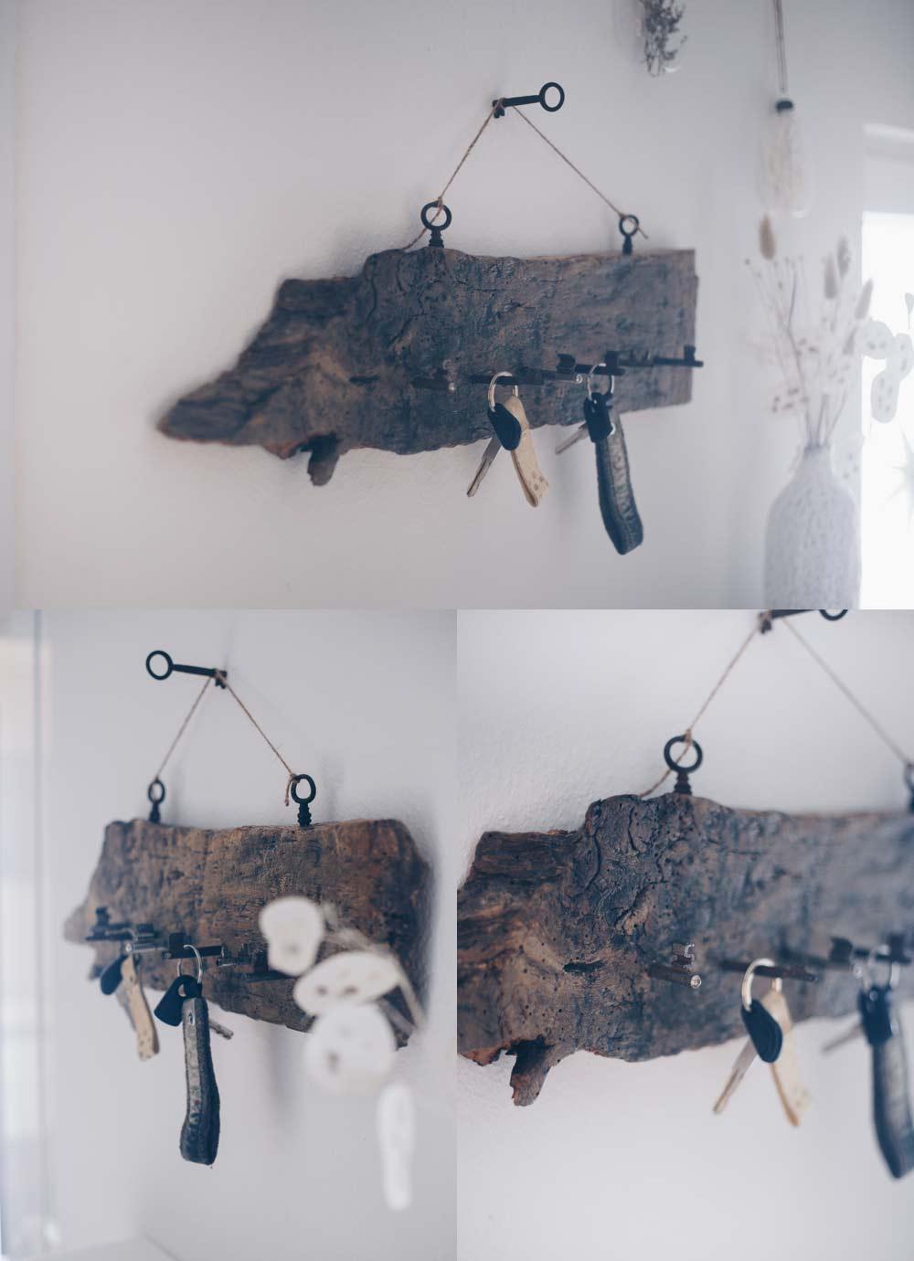 DIY Schlüsselbrett aus vintage Schlüsseln und altem Holz selbermachen Anleitung