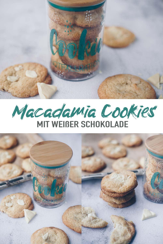 Macadamia Cookies mit weißer Schokolade - Geschenkidee im Glas mit DIY Anleitung