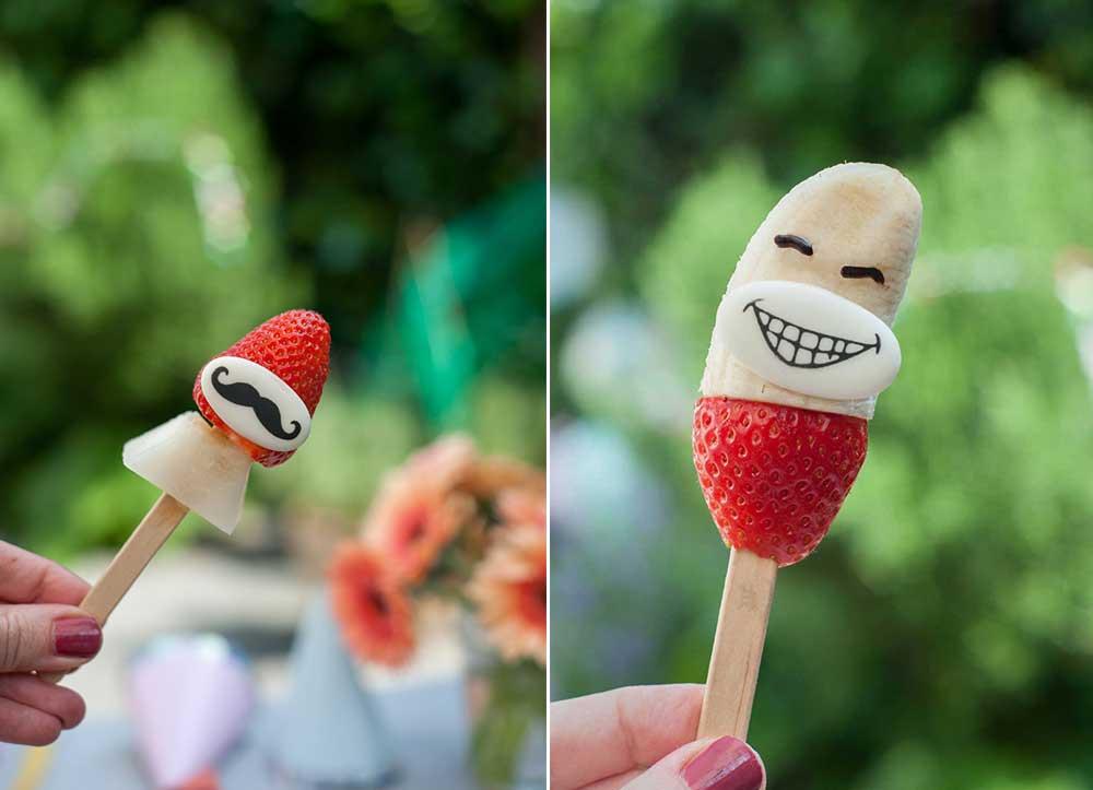 Obstlollie mit Gesicht Zuckermotive DrOetker