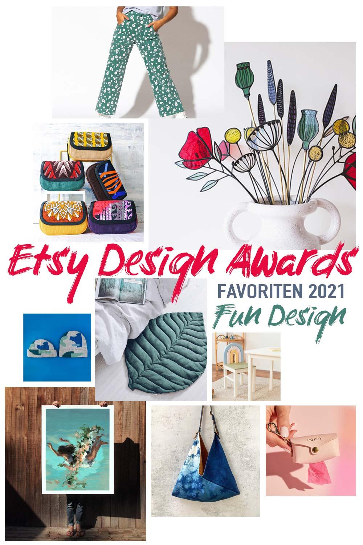 Etsy Design Awards Favoriten 2021 die gute Laune machen