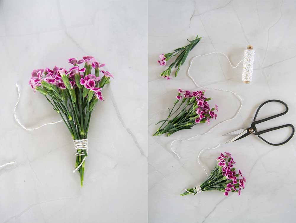 Blumen aufhängen