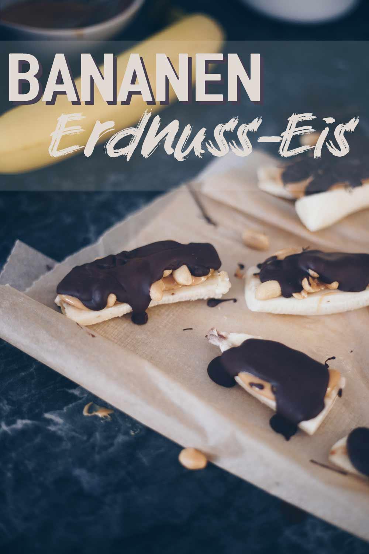 Bananen Erdnuss Eis veganes Snickers Eis selbermachen aus vier Zutaten