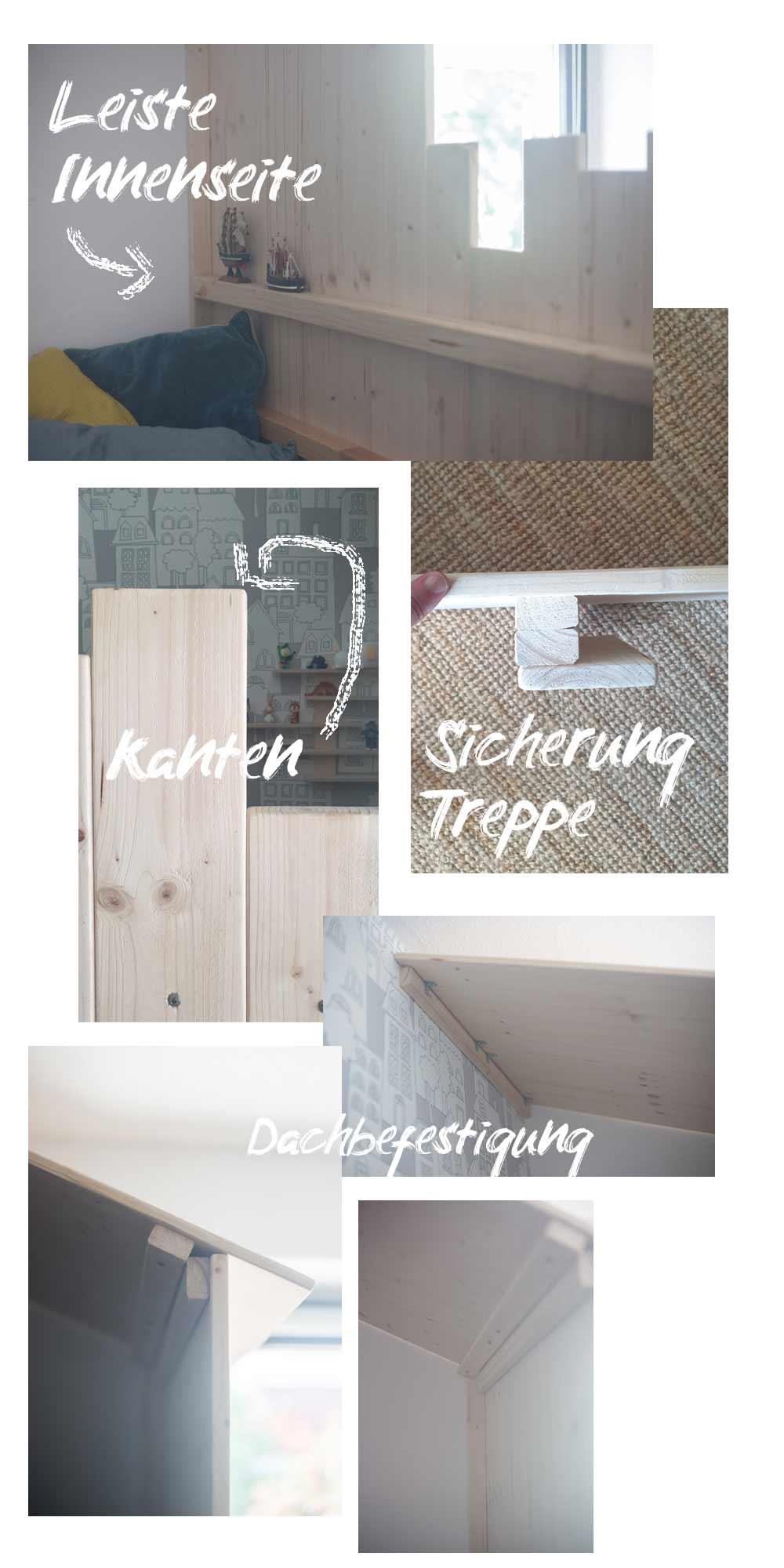 DIY Hochbett aus IKEA Kura bauen - Details