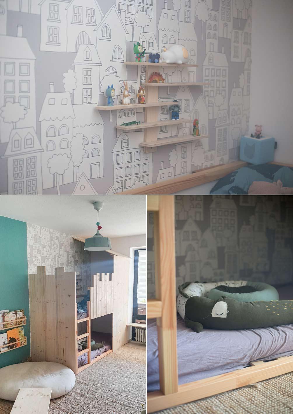 DIY Hochbett bauen aus IKEA Kura