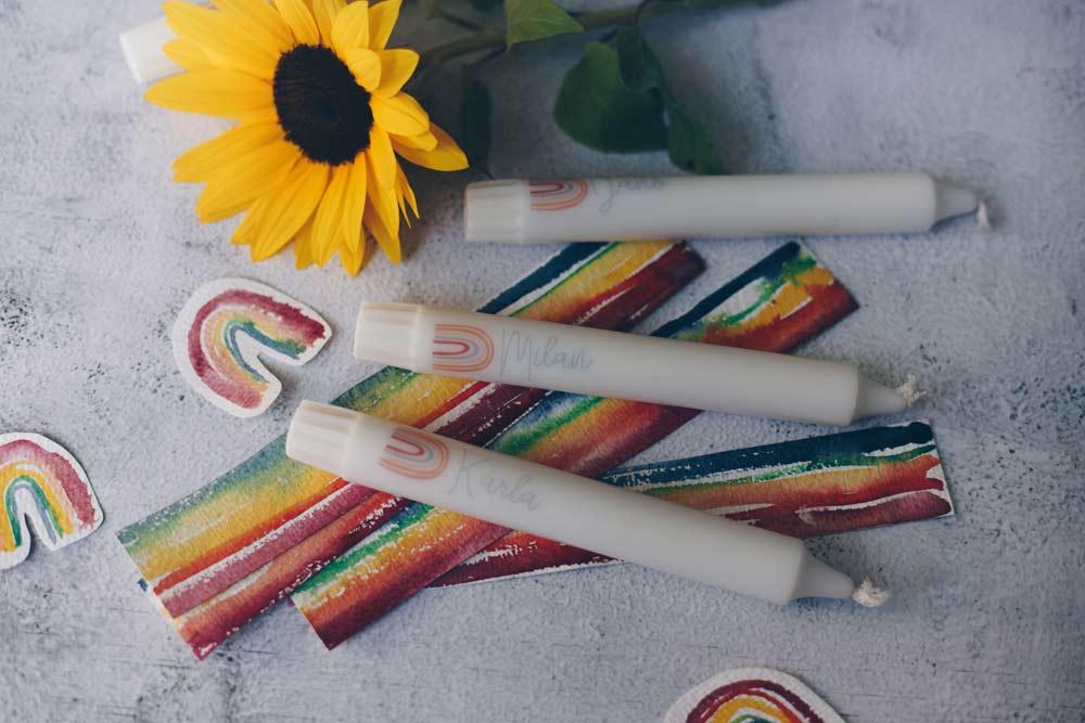 DIY Kerzentattoos selbermachen - zur Taufe oder als Geschenkidee